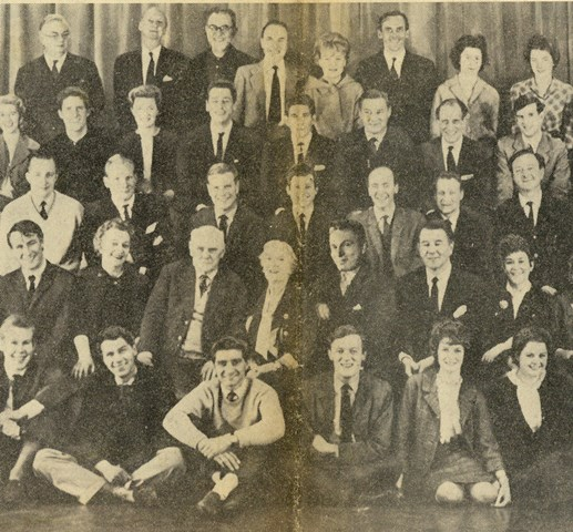 Photograph of Theatre staff from the Daily Mail 1963