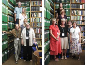 Our first two groups of archive organisation volunteers