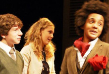 Chichester Festival Youth Theatre members performing in Pass It On!