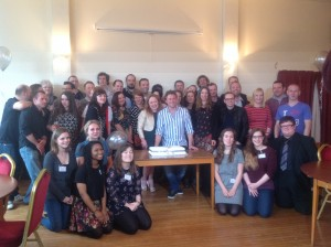 Youth Theatre alumni and current members celebrating classes of 1987 - 1995