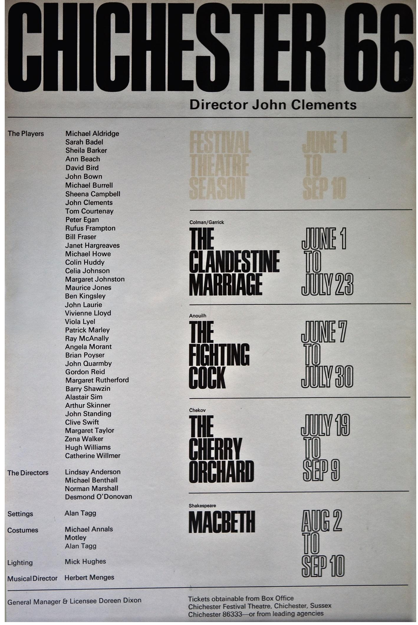 CFT 1966 Season Poster