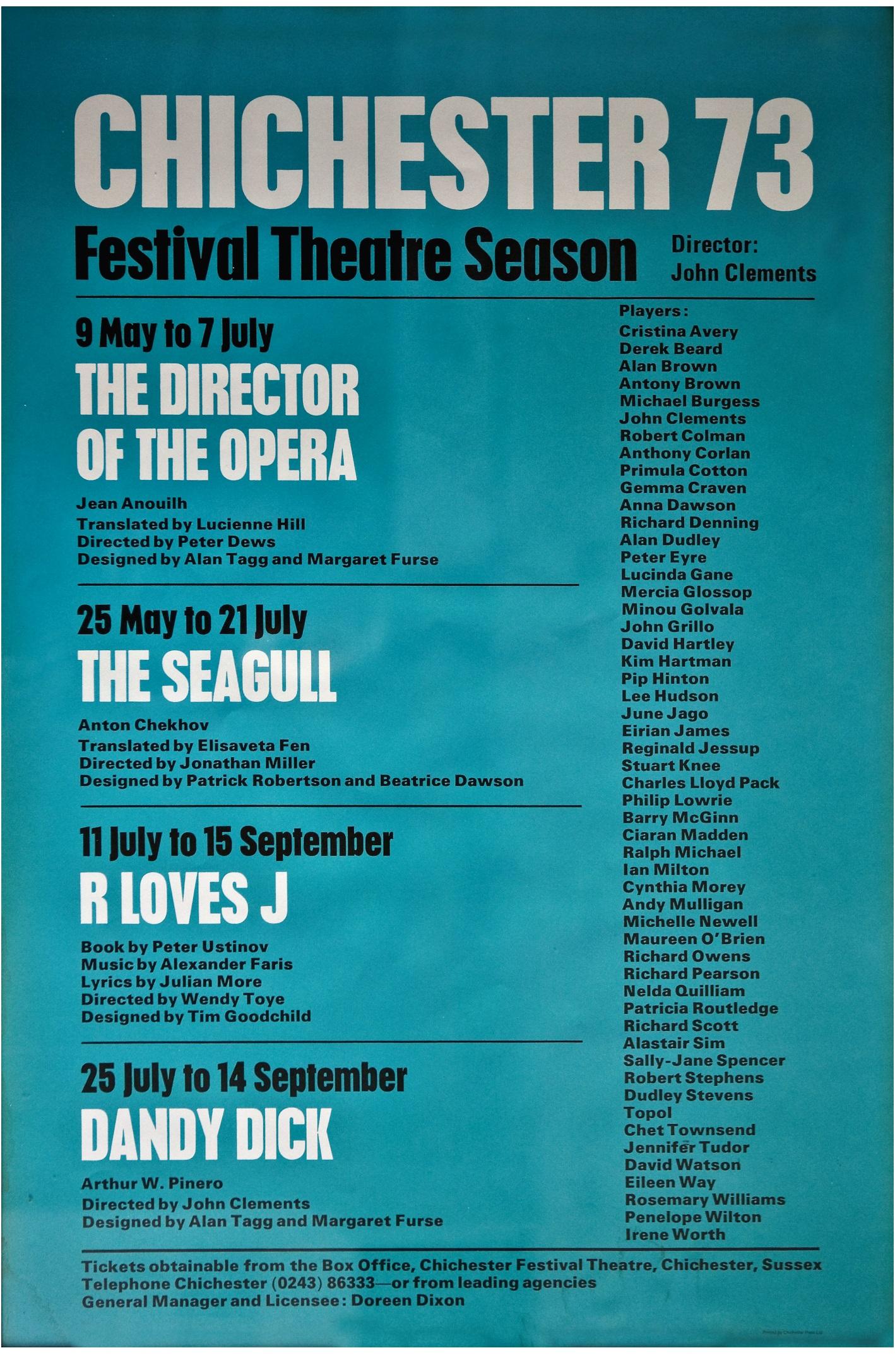 CFT 1973 Season Poster