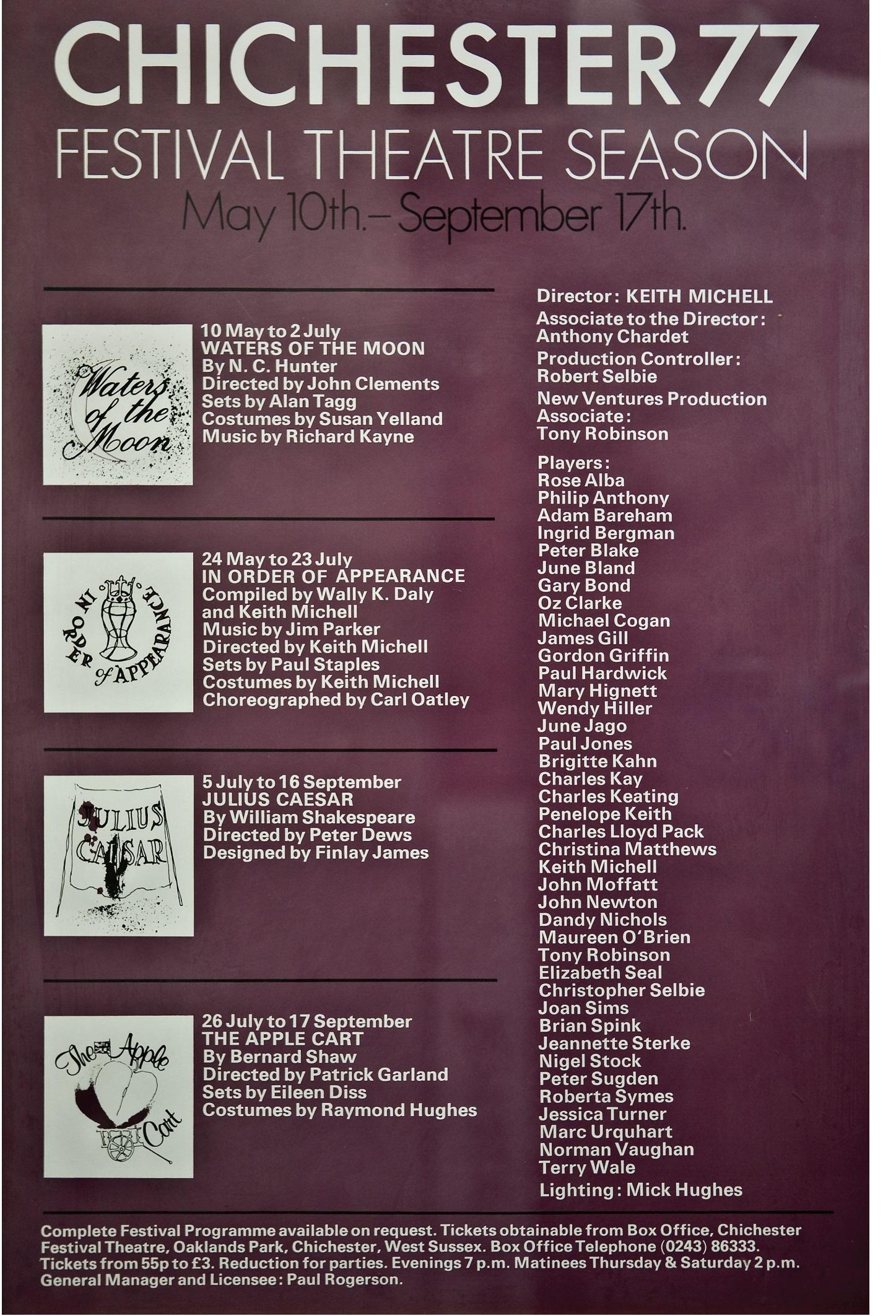 CFT 1977 Season Poster