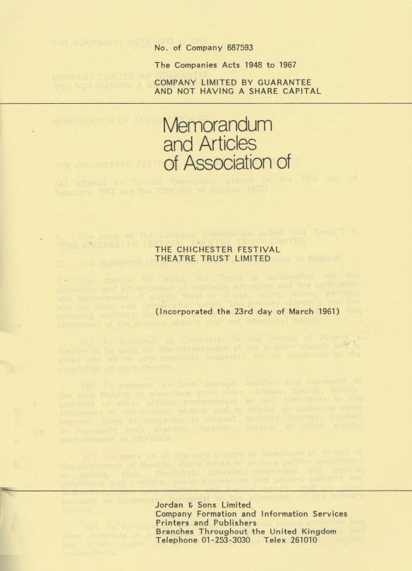1961 Memorandum