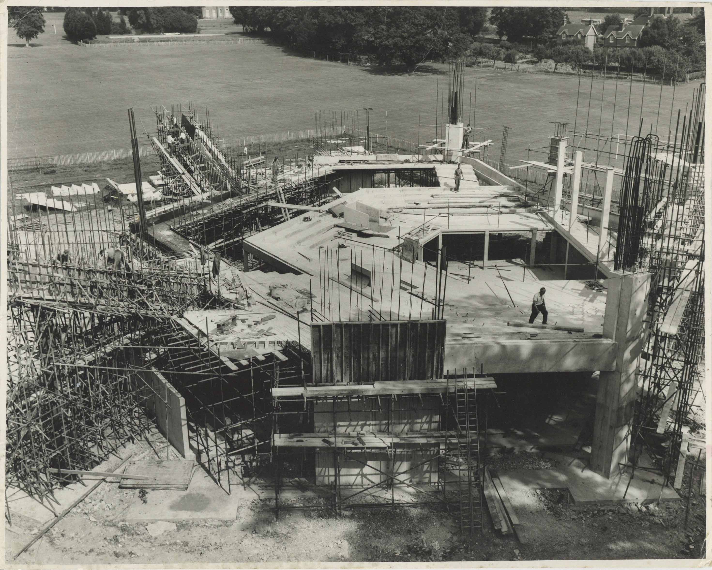 Photograph Construction Aerial Exterior Festival Theatre - Photographer unknown - 1960s - Box 71 CFT WSRO