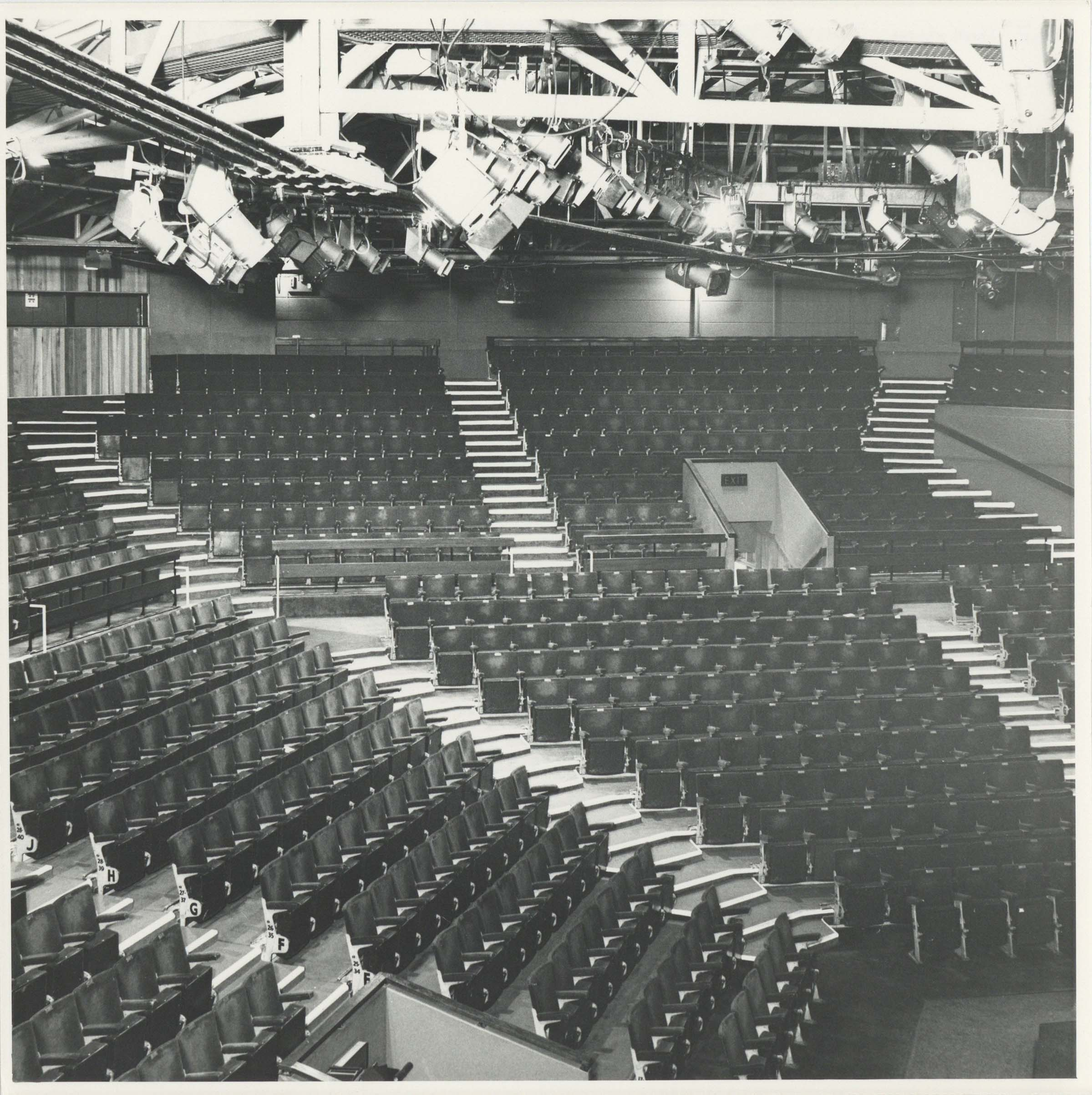 Photograph Interior Auditorium - Photographer unknown - Date unknown - Box 71 CFT WSRO - H20xW20cm