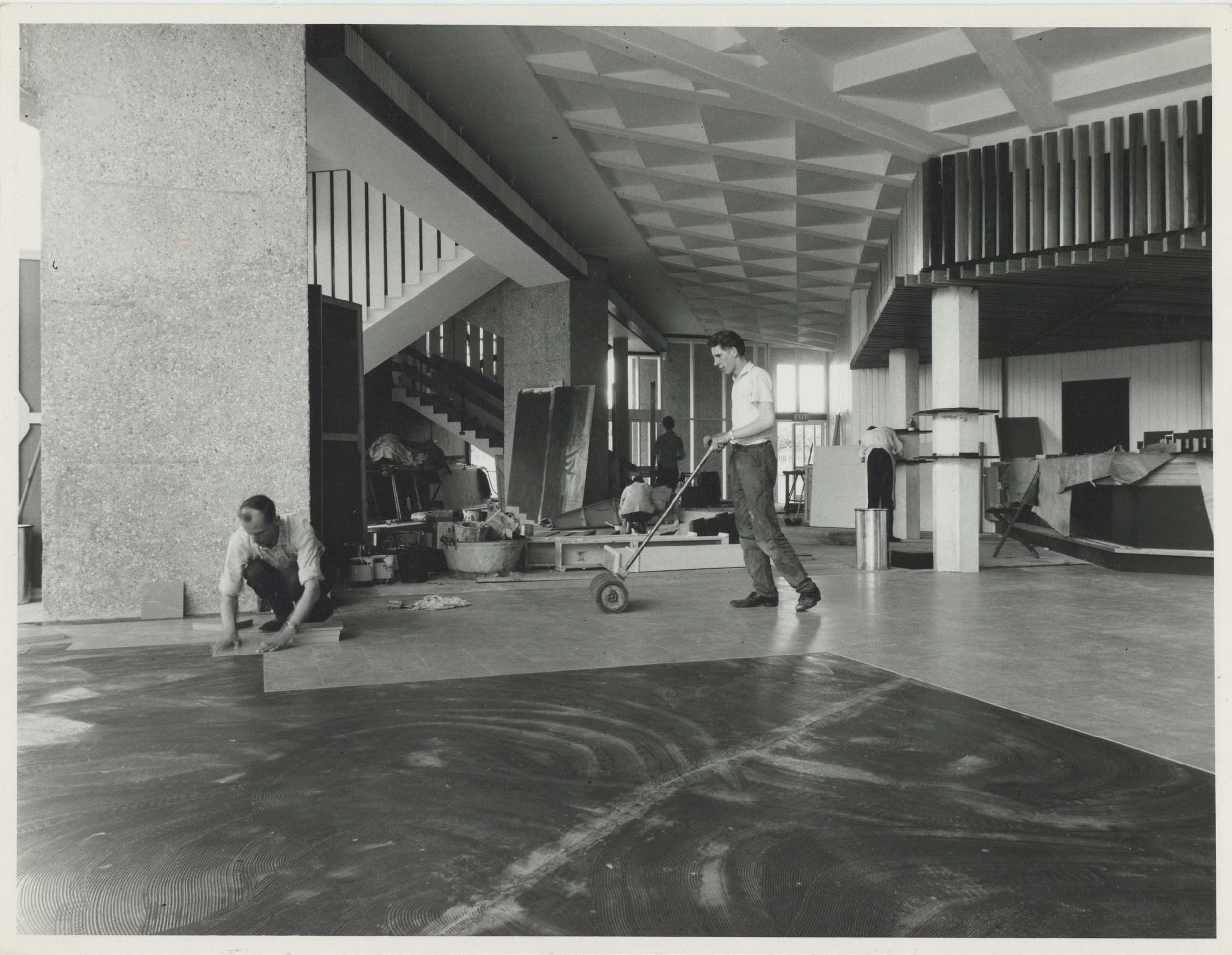 Photograph Interior Foyer Floor construction - Photographer uknown - Date unknown - Box 71 CFT WSRO - H21xW16cm