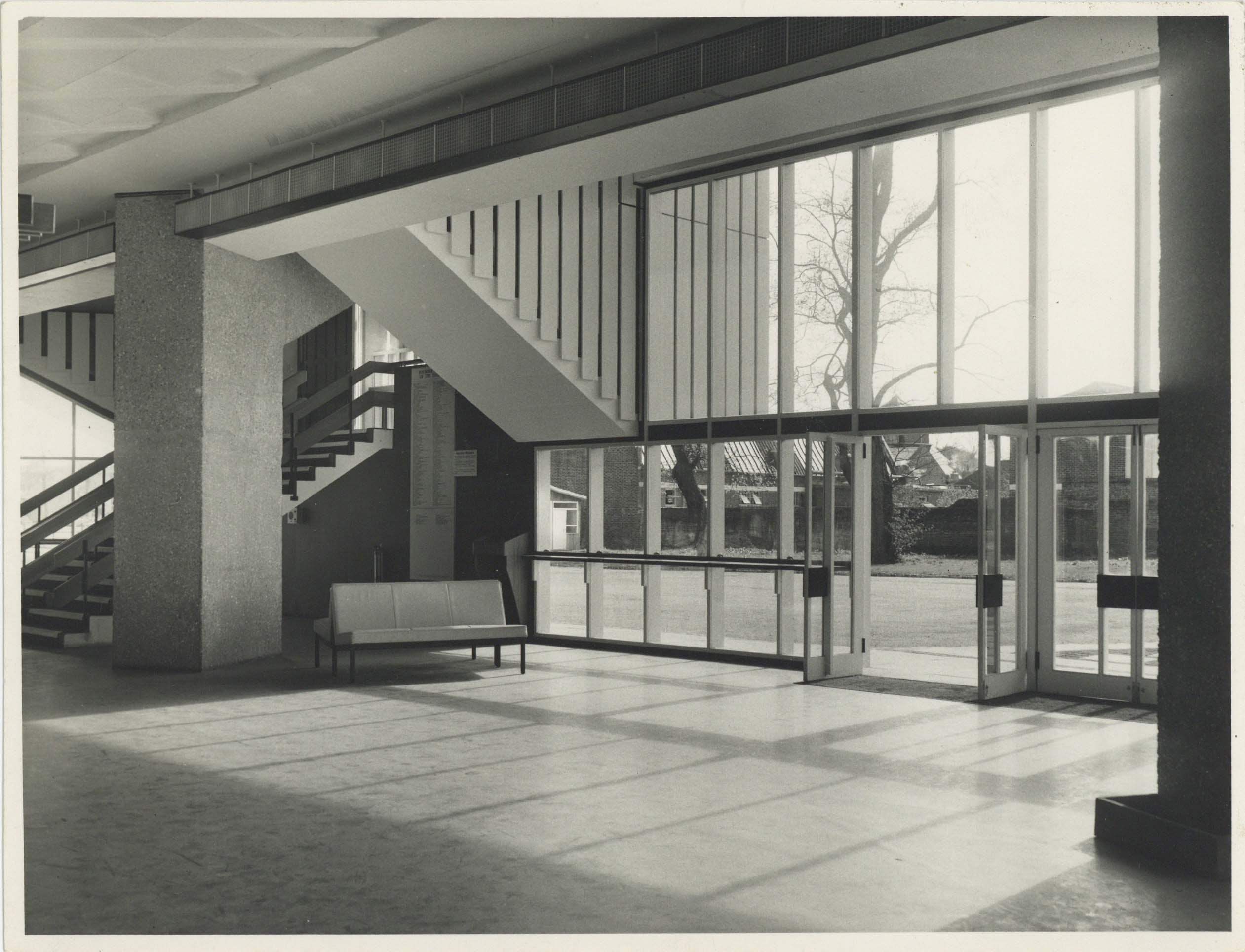 Photograph Interior Foyer - Photographer unknown - Date unknown - Box 71 CFT WSRO - H21xW16cm
