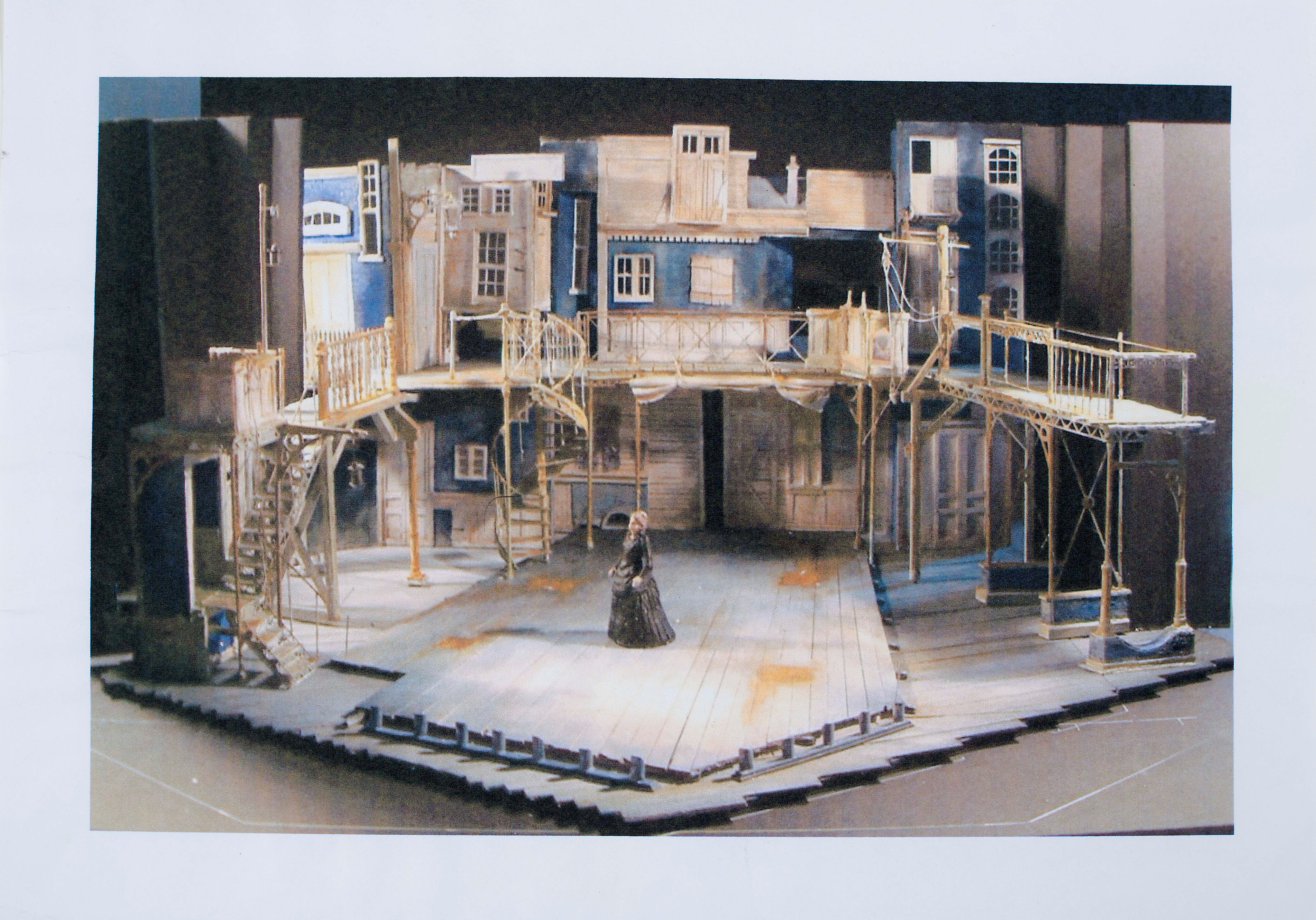 Photograph set model box Nicholas Nickleby - Simon Higlett - 2006 - CFT WSRO - low res