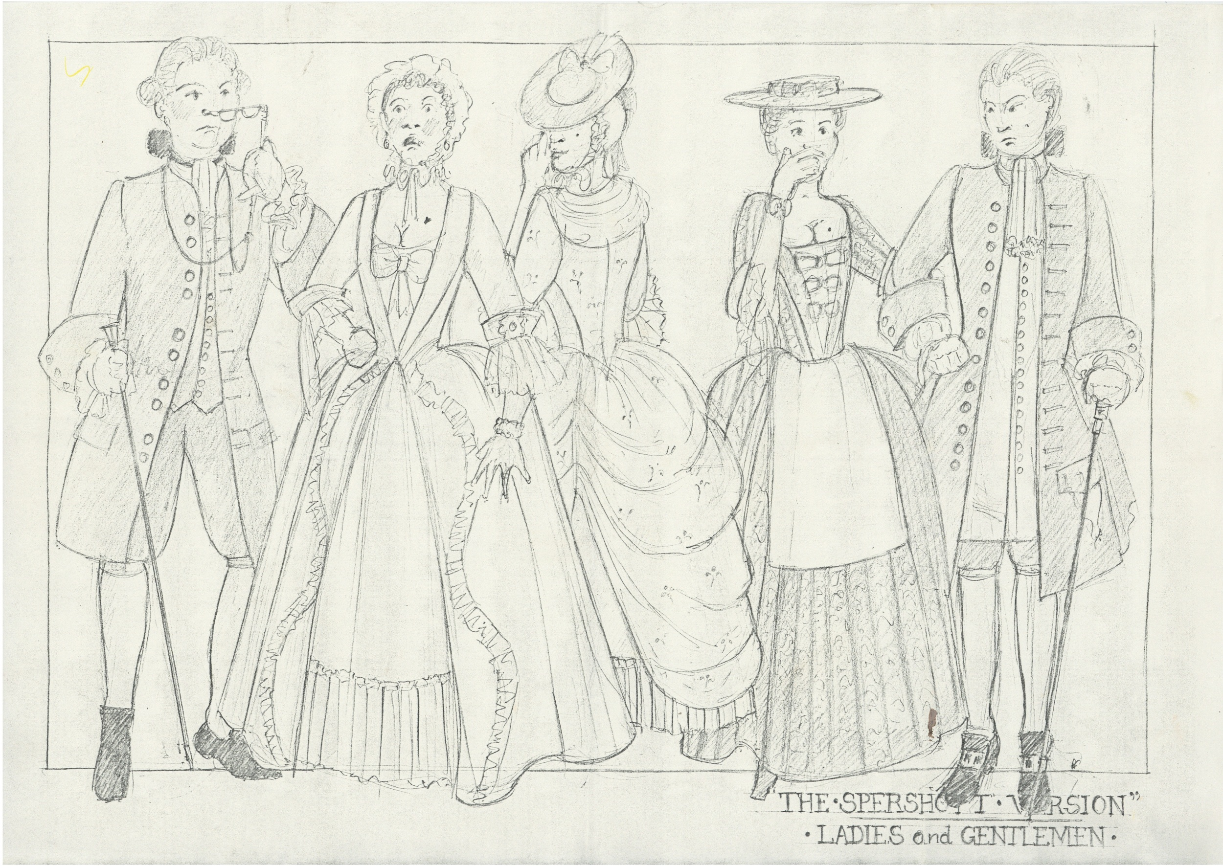 The Spershott Version 1986 Costume designs ladies & gentlemen