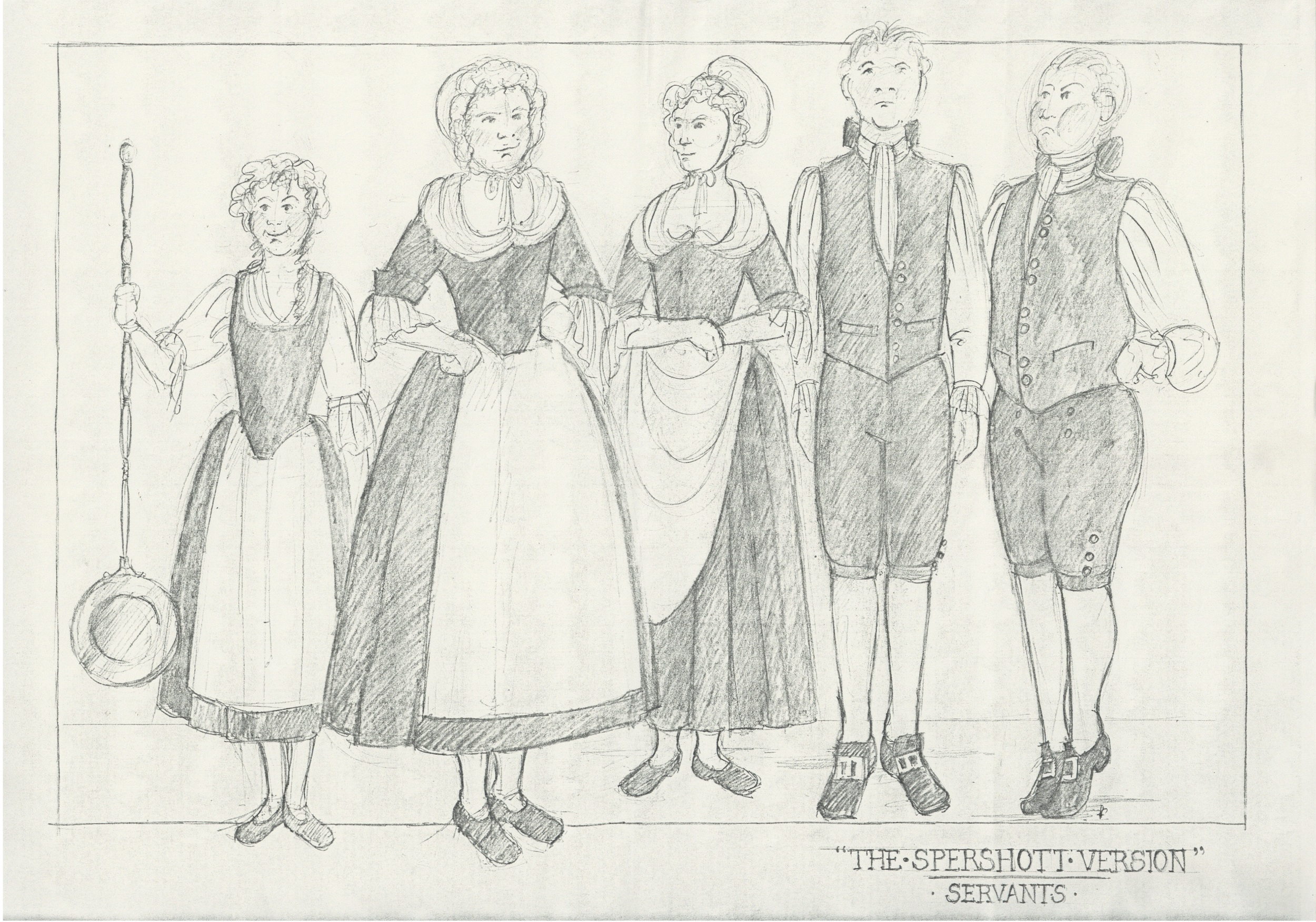 The Spershott Version 1986 Costume designs servents