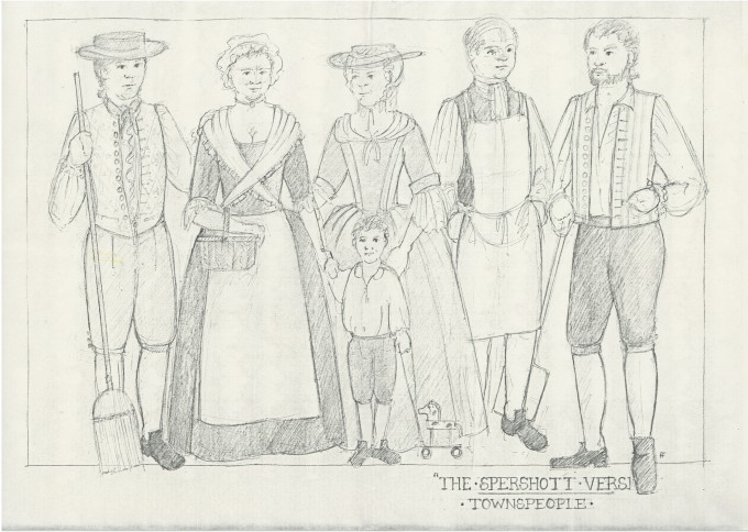 The Spershott Version 1986 Costume designs townspeople