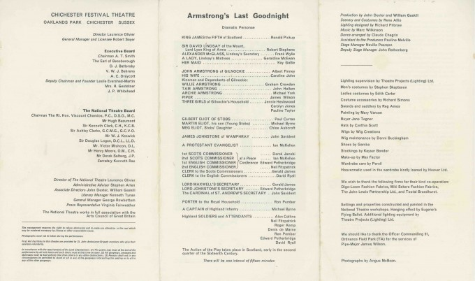 Cast List - Armstrongs Last  Goodnight - 1965 - 2 of 3