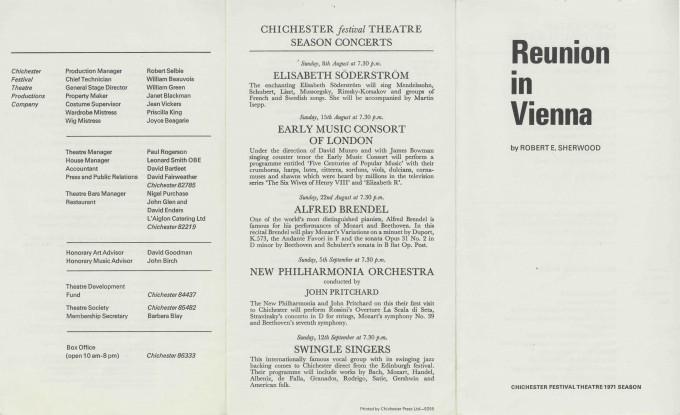 Cast List  - Reunion in Vienna  - 1971- 1 of 2