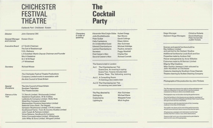 Cast List - The Cocktail Party - 1968 - 2 of 2