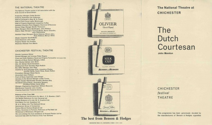 Cast List - The Dutch Courtesan - 1964 - 1 of 2