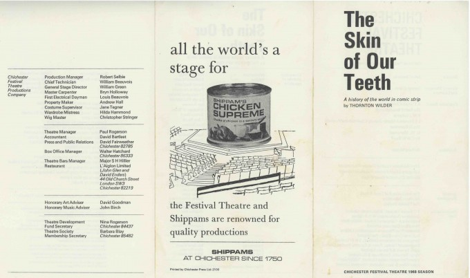Cast List - The Skin of Our Teeth - 1968 - 1 of 2