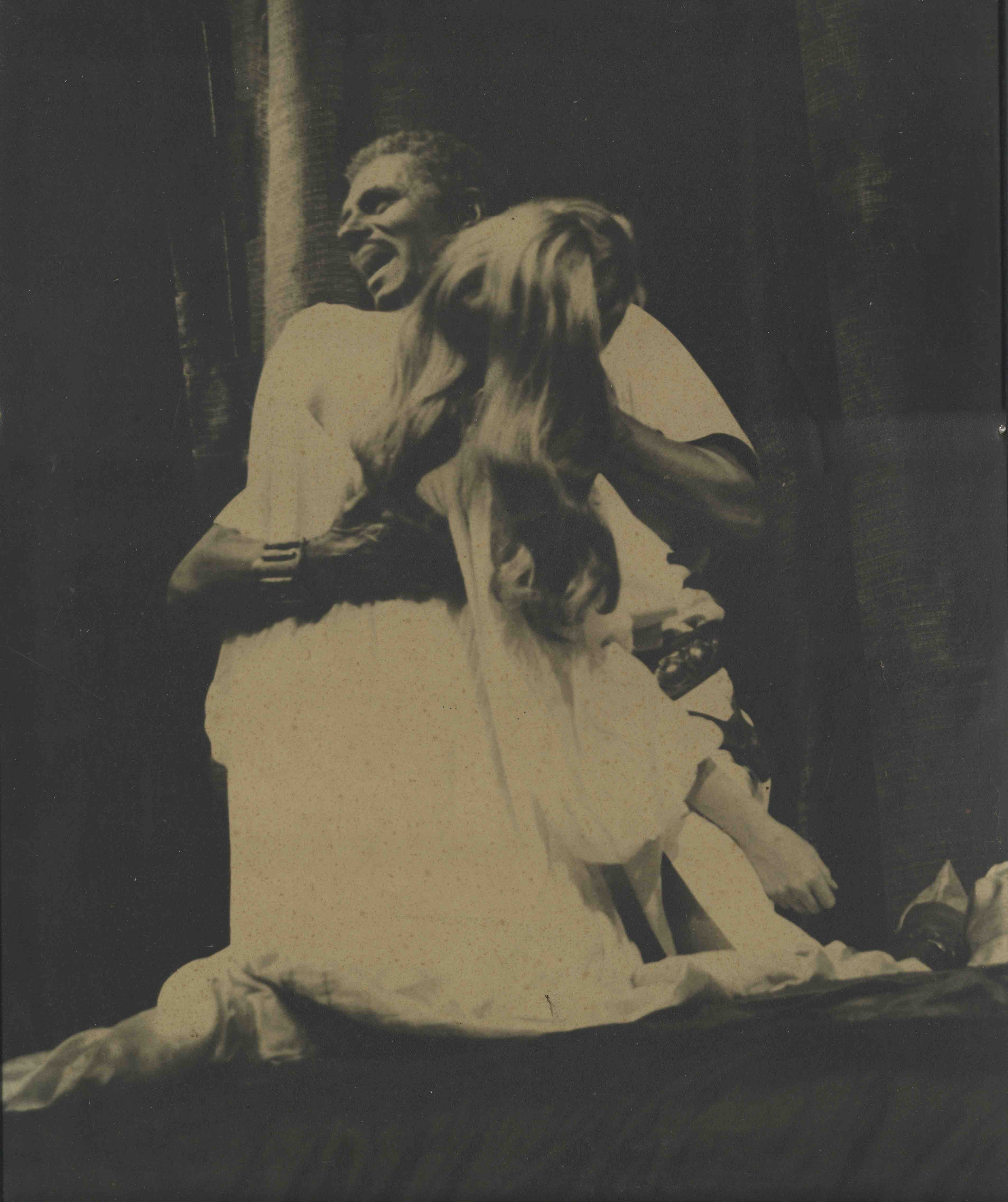 Production photograph - Othello - Laurence Olivier, Maggie Smith - Photographer unknown - 1964 - printed on board - H47W39