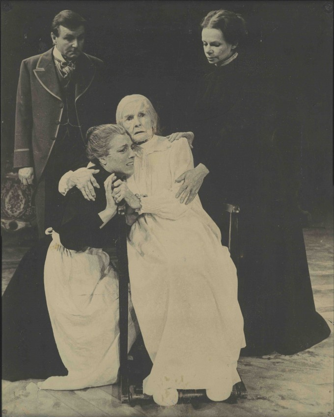 Production photograph - The Aspern Papers - Kenneth Haigh, Eve Shickle, Cathleen Nesbitt, Jill Bennett -Photographer Reg Wilson -1978 - printed on board - H50 W40