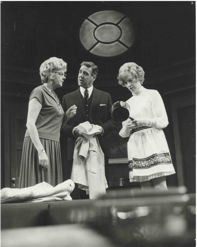 Production photograph - The Cocktail Party - Nan Munro, Michael Aldridge, Eileen Atkins- Photographer John Timbers - 1968 - WSRO - Dimensions unknown