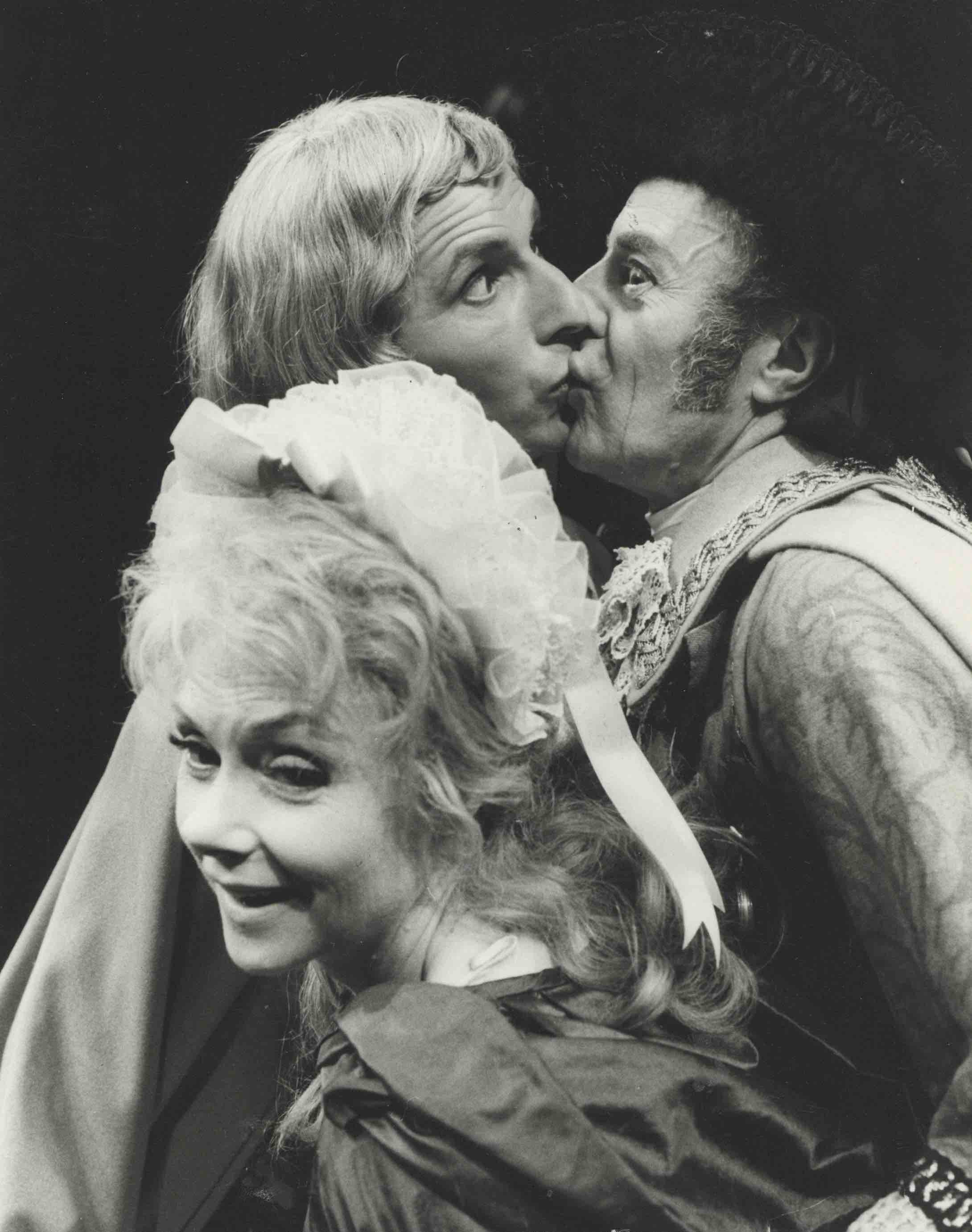 Production photograph - The Country Wife - Renee Asherton, Gary Hope and Hugh Paddick - Photographer John Timbers - 1969 - WSRO - dimensions unknown