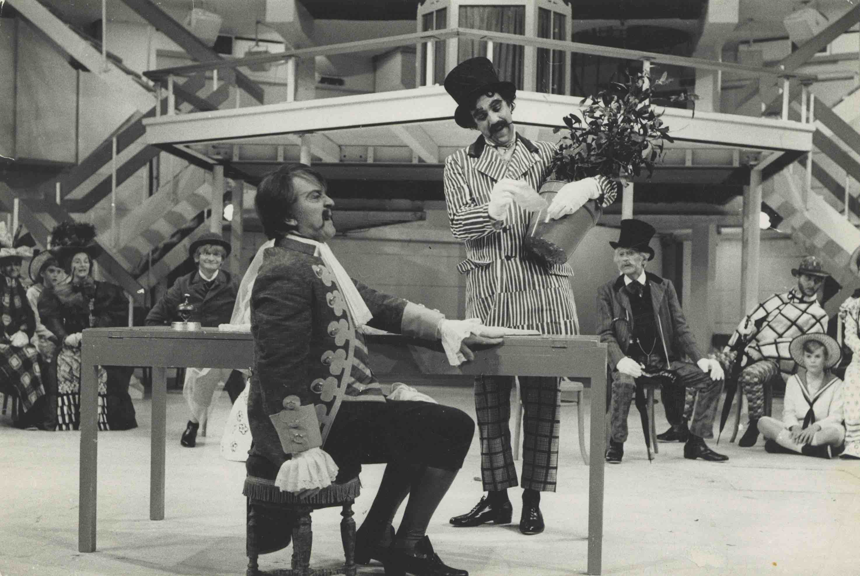 Production photograph - The Italian Straw Hat - David Bird and Michael Aldridge - Photographer Dominic - 1969 - WSRO - Dimensions unknown