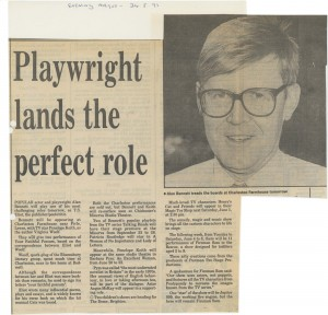 Press cutting - Talking Heads, Alan Bennett - Evening Argus - 24 May 1991 - FE Press cuttings Box 686