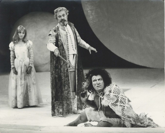 Production photograph - The Tempest - Photographer unknown - Maureen O'Brien, John Clements, Clive Revill - 1968