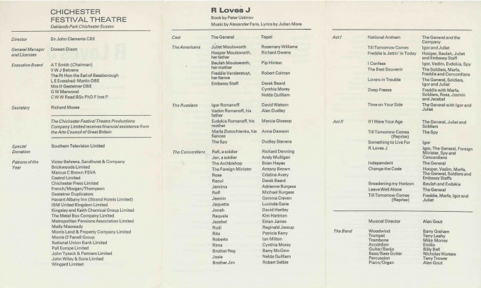 Cast List - R loves J  - 1973- 2 of 2