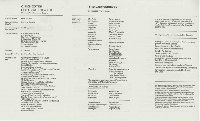 Cast List - The Confederacy  - 1974- 2 of 2