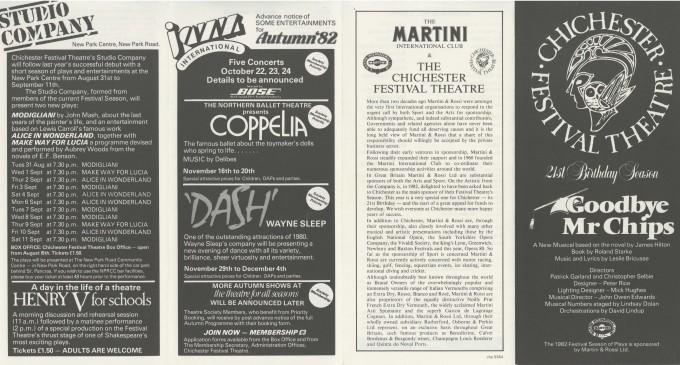 Cast List - Goodbye Mr Chips - 1982 - 1 of 2