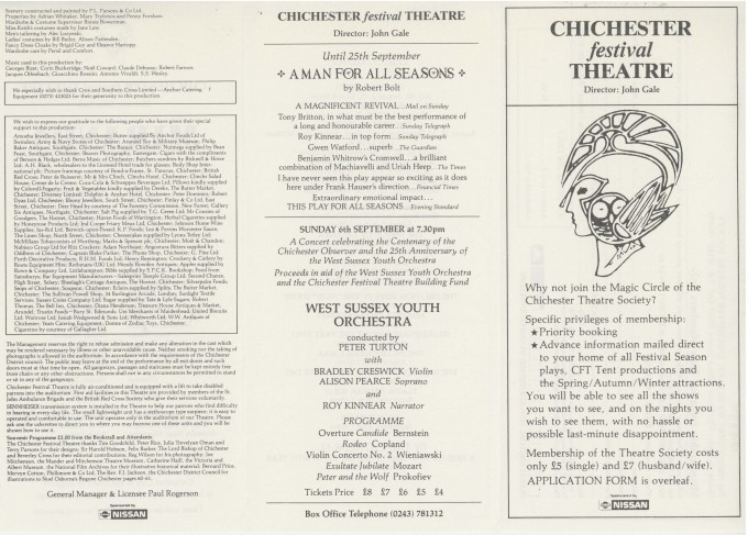 Cast List - Miranda - 1987 - 2 of 2