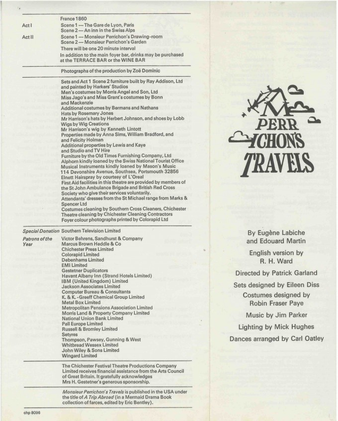 Cast List - Monsieur Perrichon's Travels  - 1976- 1 of 2