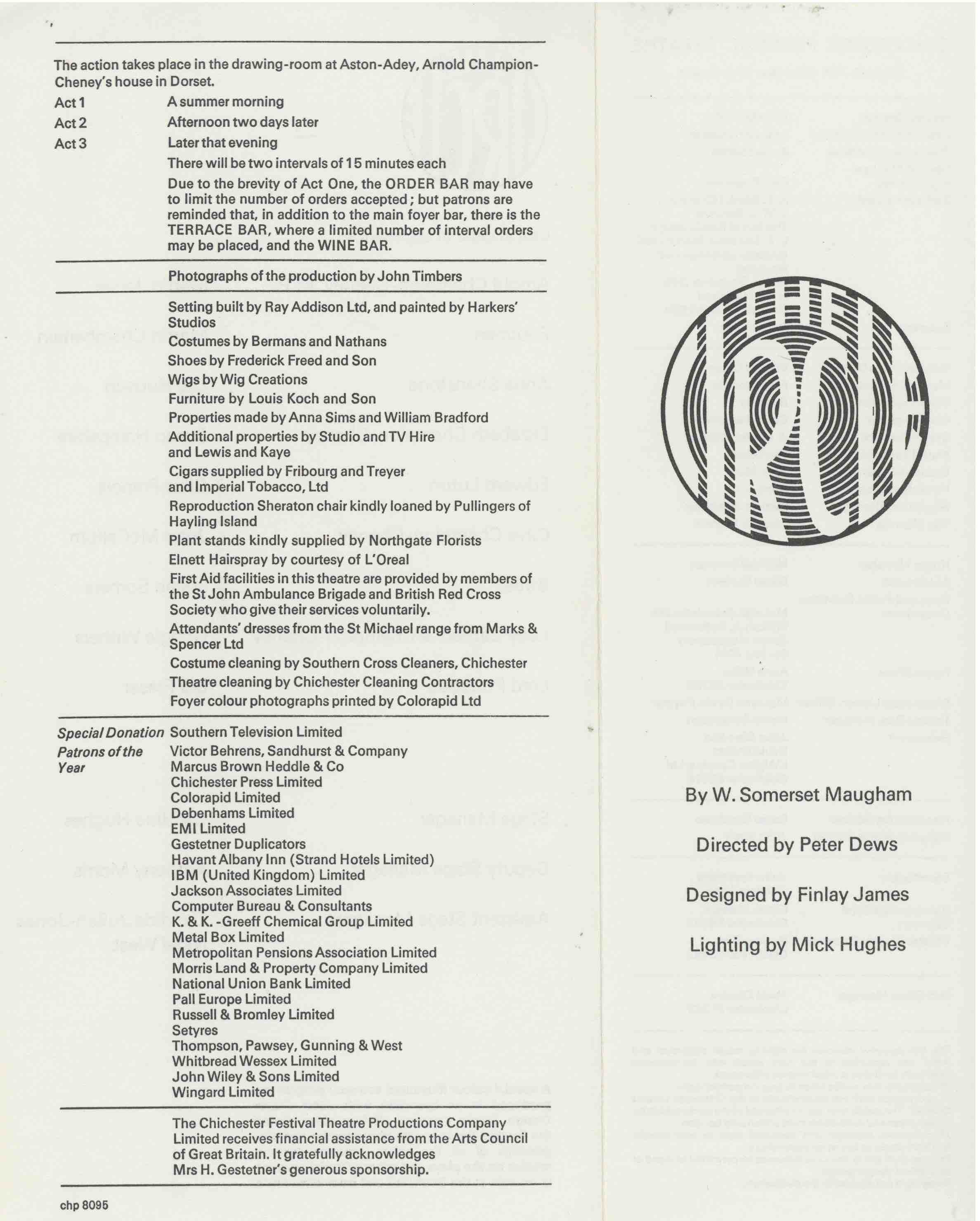 Cast List - The Circle  - 1976- 1 of 2