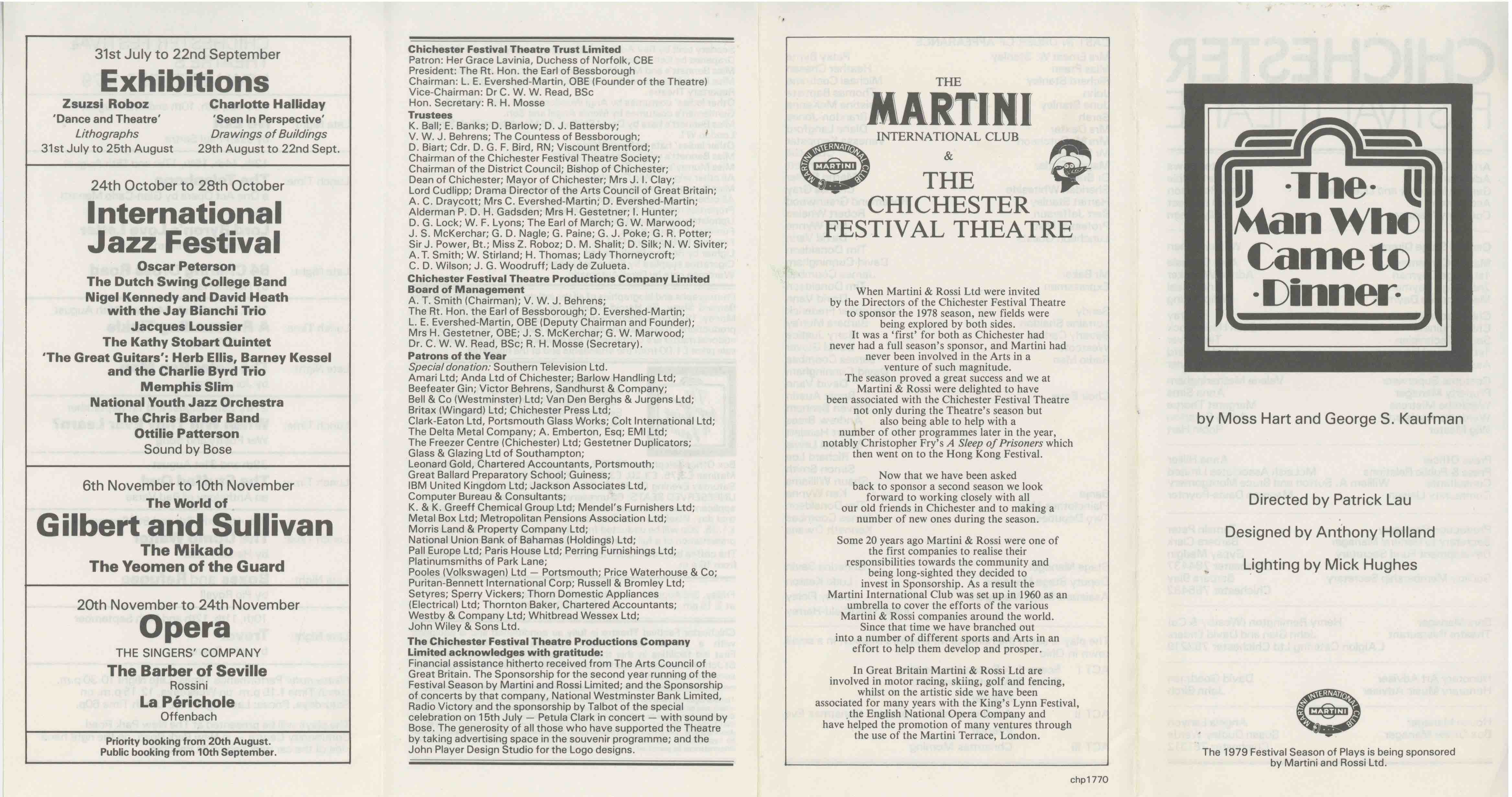Cast List - The Man who came to dinner  - 1979-  1 of 2