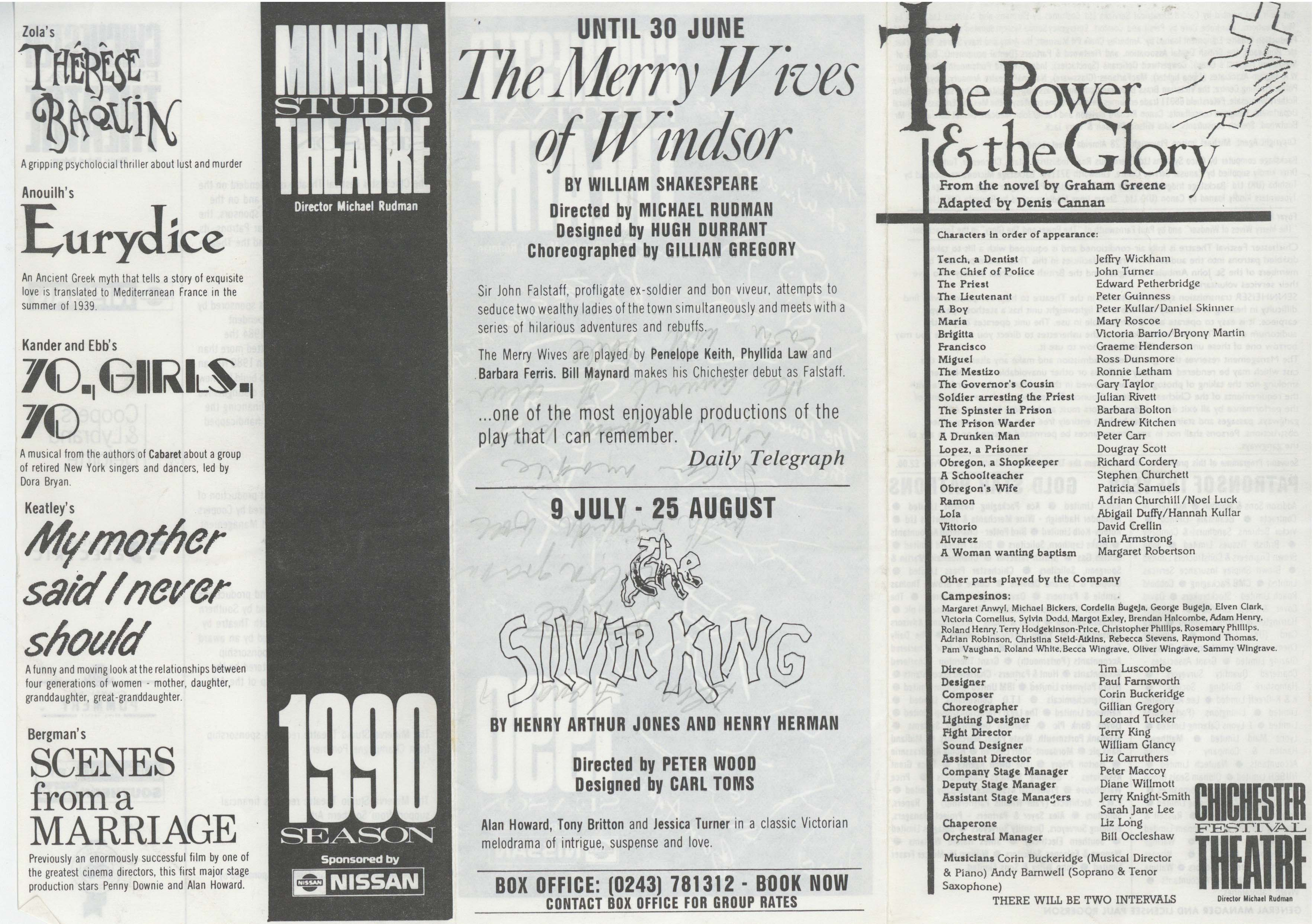 Cast List - The Power and the Glory - 1990 - 1 of 2