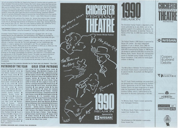 Cast List - The Silver King - 1990 - 2 of 2