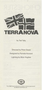 Cast List - Terra Nova - 1980 - 1 of 2
