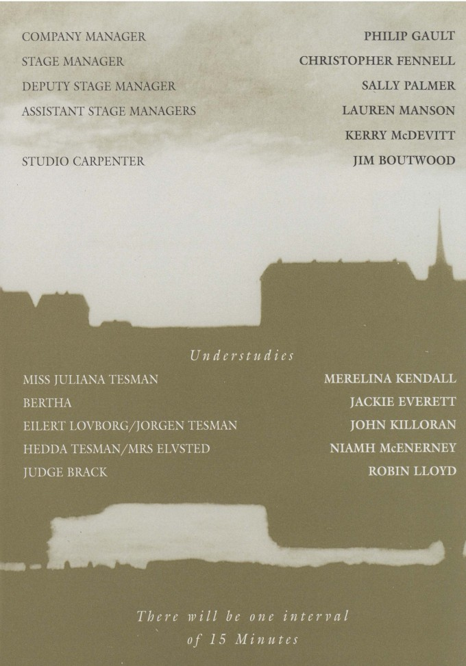 Cast list - Hedda Gabler - 1996 - 2 of 2