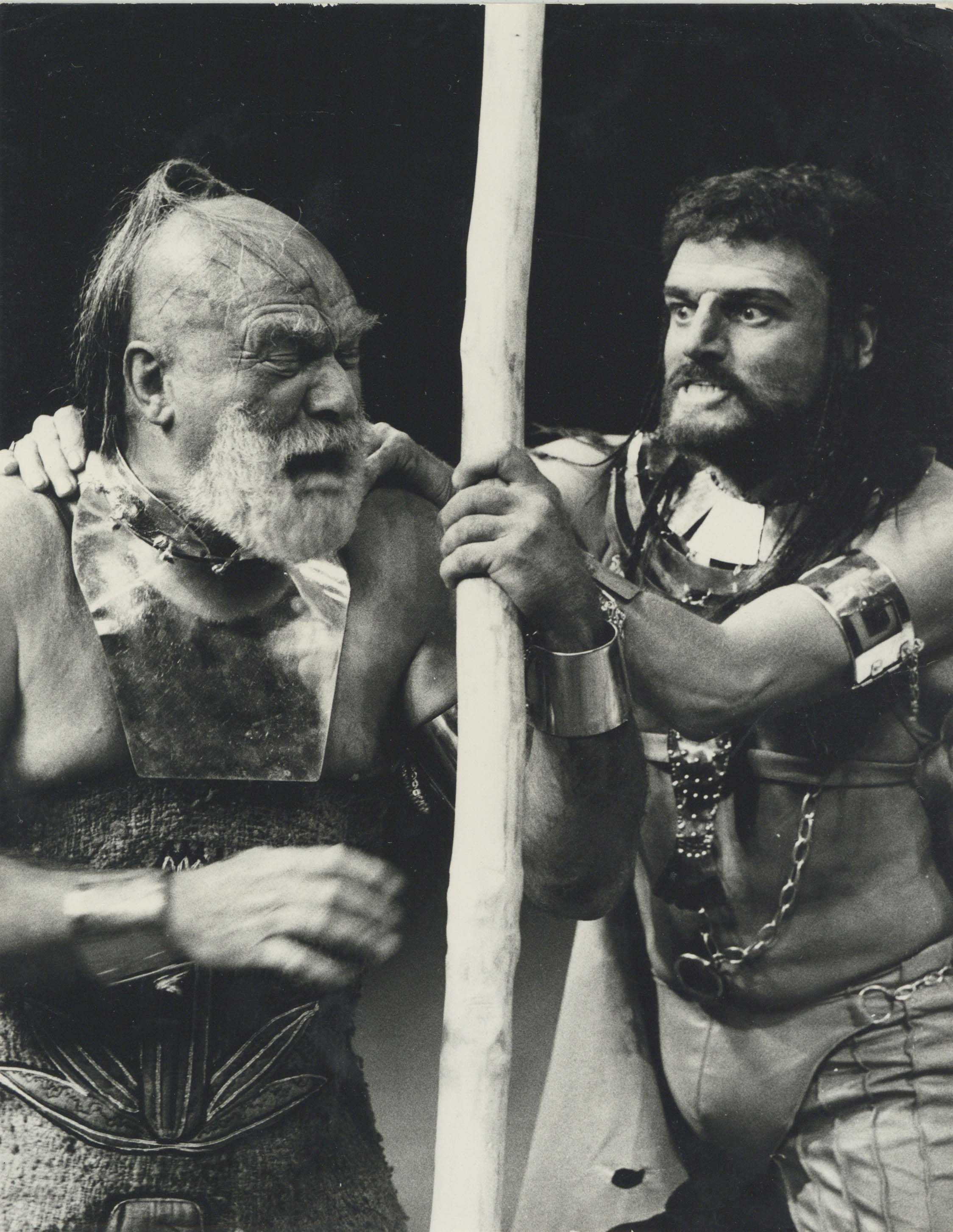 Production Photograph - Oedipus Tyrannus  - Howard Lang, Keith Michell - Photographer Mark Gudgeon - 1974 - H24.5cm W19cm - 1 of 2