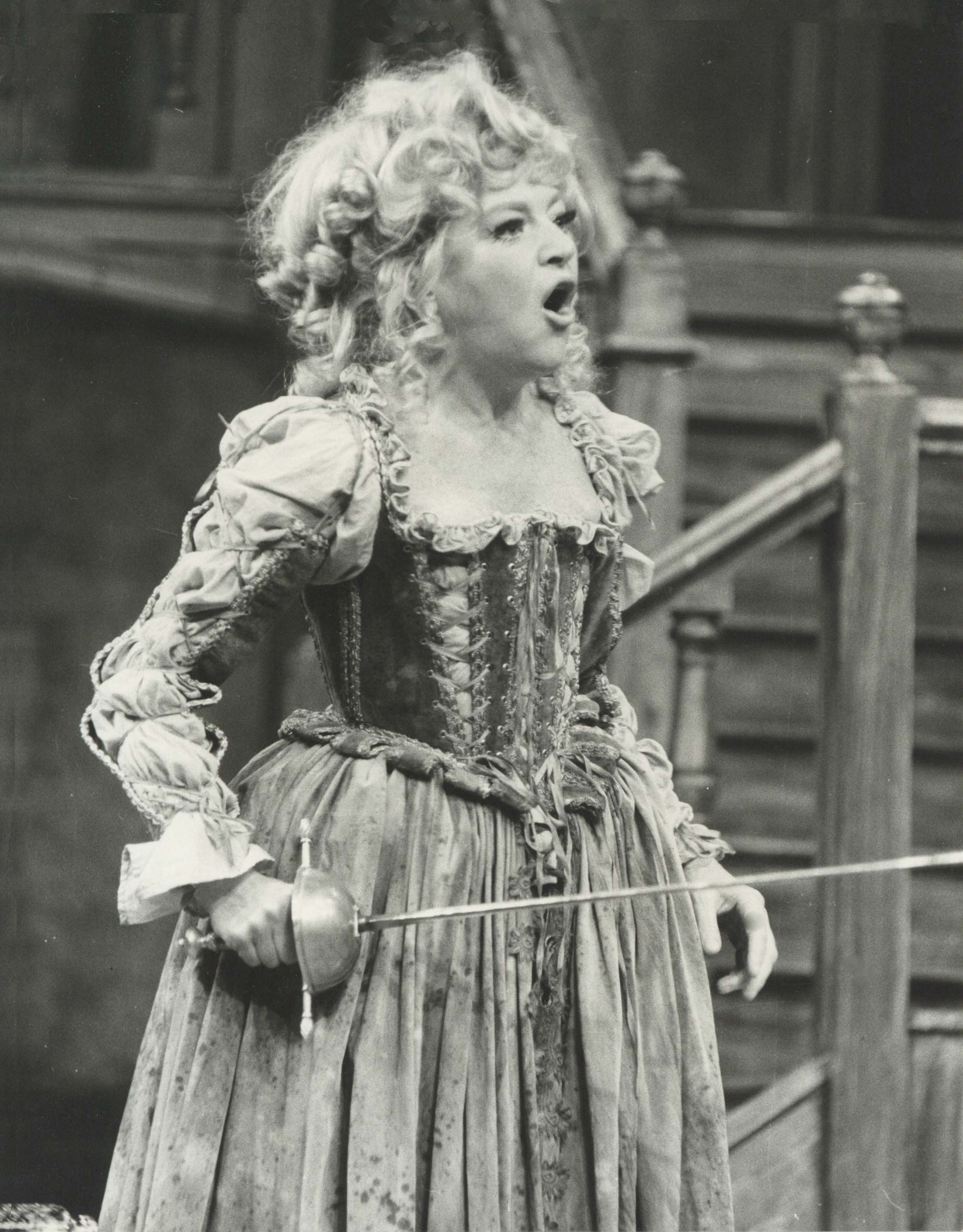 Production photograph - The Alchemist - Dora Bryan - Photographer John Timbers - 1970