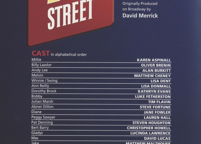 Cast List - 42nd Street - 2010 - 1 of 2