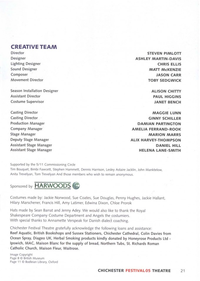 Cast List - 5 11 - 2005 -  2 of 2
