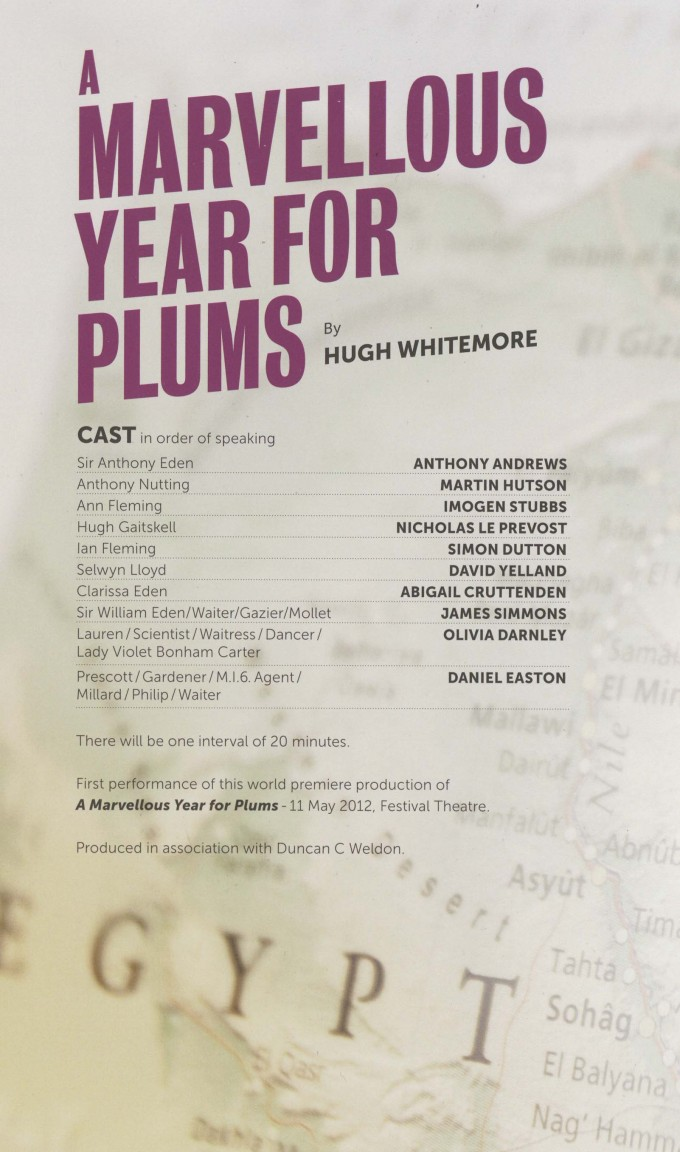 Cast List - A Marvellous Year for Plumbs - 2012 - 1 of 2