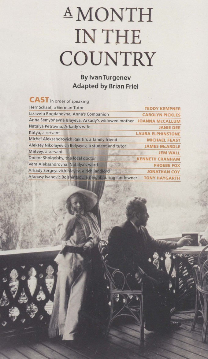 Cast List - A Month in the Country - 2010 - 1 of 2