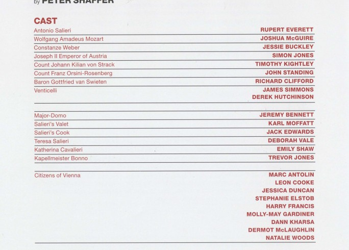 Cast List - Amadeus - 2014 - 1 of 2