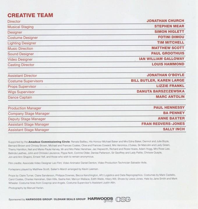 Cast List - Amadeus - 2014 - 2 of 2