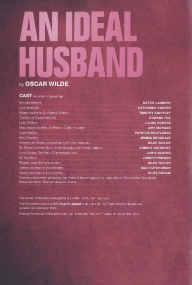 Cast List - An Ideal Husband - 2014 - 1 of 2