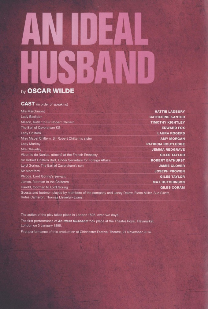 Cast List - An Ideal Husband - 2014 - 1 of 2