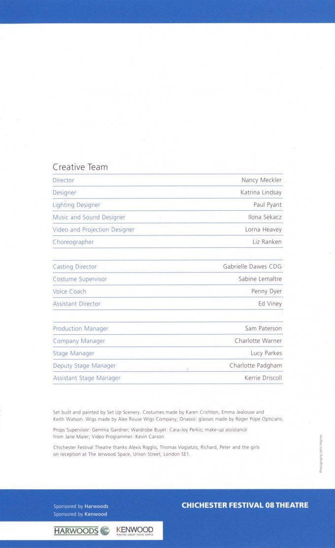 Cast List - Aristo - 2008 - 2 of 2